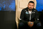 Argentine WBA welterweight champion Lucas Matthysse listens to questions from the media during a press conference in Kuala Lumpur, Malaysia, Thursday, July 12, 2018. Matthysse and Philippine senator and boxing hero Manny Pacquiao were scheduled to fight on July 15, for the World Boxing Association welterweight title in Malaysia. (AP Photo/Yam G-Jun)