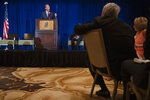 Virginia Republican gubernatorial candidate Glenn Youngkin addresses the Virginia FREE Leadership Luncheon in McLean, Va., Wednesday, Sept. 1, 2021. (AP Photo/Cliff Owen)