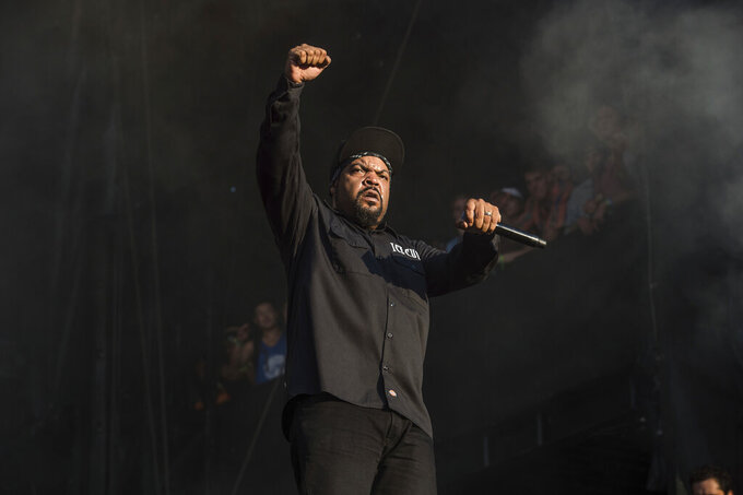 FILE - Ice Cube performs at the Austin City Limits Music Festival on Oct. 14, 2017, in Austin, Texas. The actor/rapper turns 52 on June 15. (Photo by Amy Harris/Invision/AP, File)