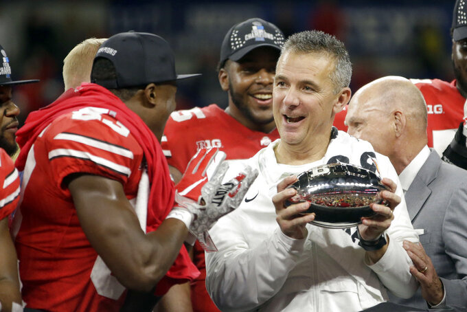 The Latest: Buckeyes get Rose Bowl trip vs Washington
