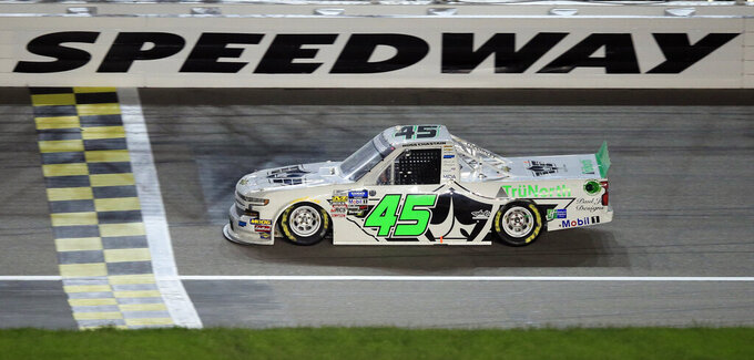 Ross Chastain races to 1st NASCAR Trucks victory