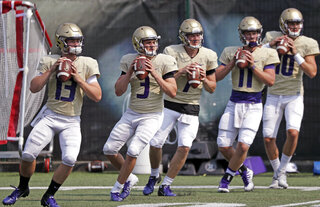 Jake Haener, Jake Browning, Colson Yankoff, Jacob Simon, Jacob Eason