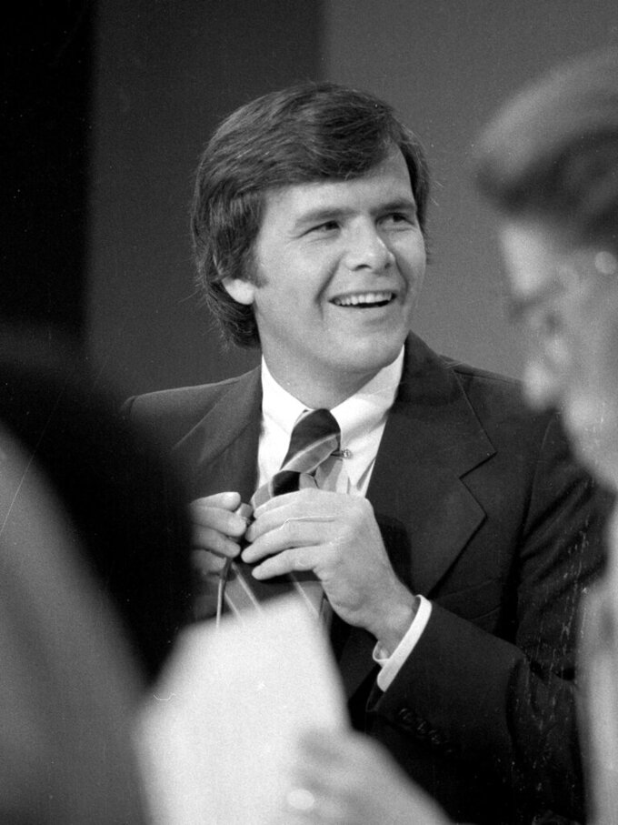 """FILE - Tom Brokaw appears on his first day as host of NBC's """"Today"""" show in New York on Aug. 30, 1976. Brokaw says he is retiring from NBC News after working at the network for 55 years. The author of """"The Greatest Generation"""" is now 80 years old and his television appearances have been limited in recent years as he fought cancer. He says he will continue writing books and articles. (AP Photo, File)"""