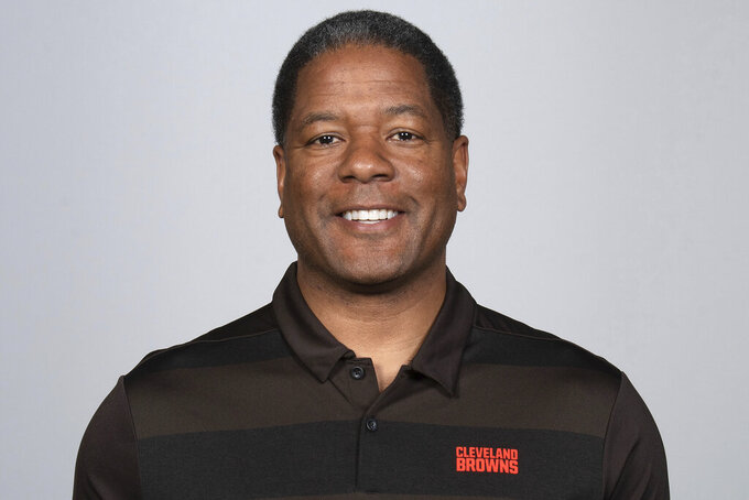 FILE- This is a 2019 photo of Steve Wilks of the Cleveland Browns NFL football team. Wilks is the new defensive coordinator at Missouri, where he replaced Ryan Walters after his departure for Illinois. (AP Photo)