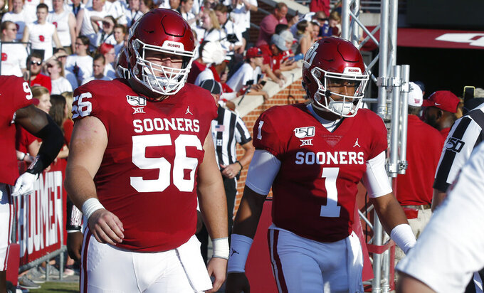 Oklahoma's offensive line reloads after sending 4 to NFL