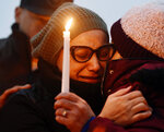 """FILE — In this Feb. 7, 2019 file photo, Norma Sanchez, of New Rochelle, NY, mother of Valerie Reyes, grieves for her daughter during a candlelight vigil in Reyes' honor at Glen Island Park, in New Rochelle, N.Y. Javier Da Silva, who killed Valerie Reyes, whose body was found in a suitcase dumped in Connecticut, is """"incredibly remorseful"""" for what he did to her and the pain he inflected on her family, and he understands he must serve a long prison sentence, according to new court documents filed by his lawyers, Wednesday, Sept. 8, 2021. (Tyler Sizemore/Hearst Connecticut Media via AP, File)"""