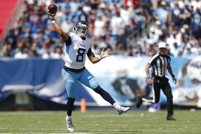 Mariota: Trying to be aggressive part of issue for Titans
