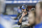 Indianapolis Colts head coach Frank Reich watches during the first half of an NFL football game against the Carolina Panthers, Sunday, Dec. 22, 2019, in Indianapolis. (AP Photo/AJ Mast)