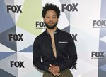 FILE - In this May 14, 2018 file photo, Jussie Smollett, a cast member in the TV series