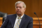 Sen. Lindsey Graham, R-S.C., listens during a Senate Foreign Relations committee hearing on the State Department's 2021 budget on Capitol Hill Thursday, July 30, 2020, in Washington. (Greg Nash/Pool via AP)