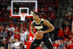 Purdue guard Nojel Eastern looks for an open teammate against Purdue during the first half of an NCAA college basketball game, Saturday, Jan. 18, 2020, in College Park, Md. (AP Photo/Julio Cortez)