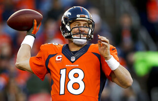 Broncos Manning Returns Football
