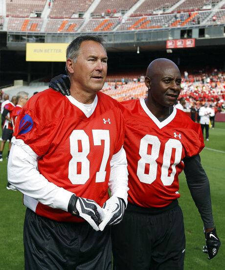 Dwight Clark, Jerry Rice