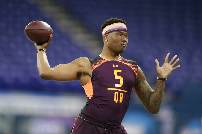 Giants have 2 first rounders: expect beef and maybe a QB