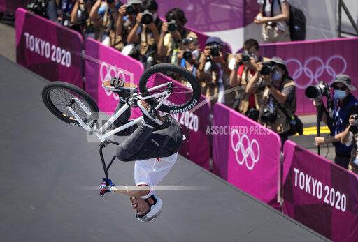 APTOPIX Tokyo Olympics BMX Cycling