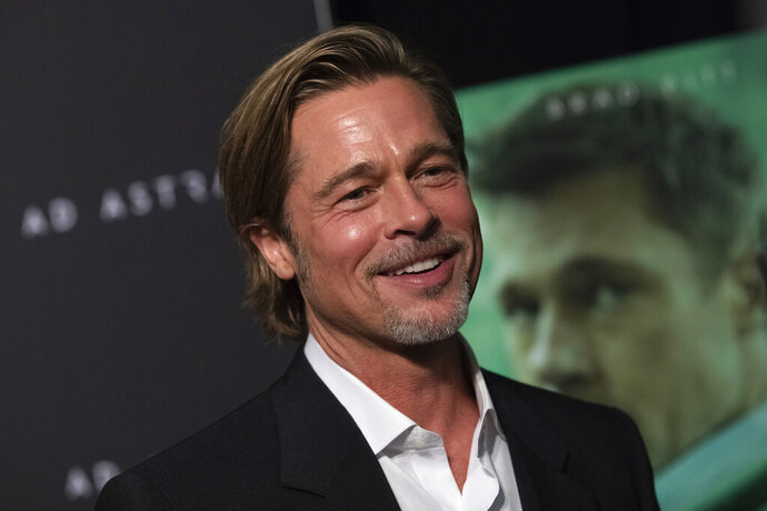 This Sept. 16, 2019 photo shows actor Brad Pitt at a special screening of