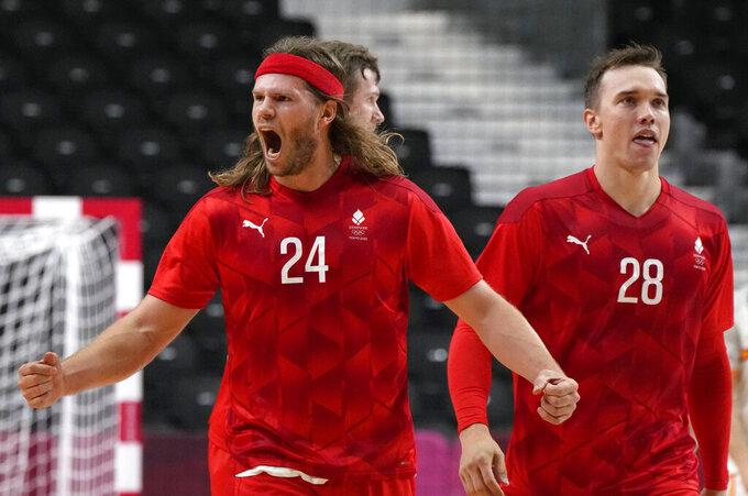 Hansen's dozen sends Denmark into Olympic handball final