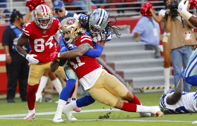 49ers rookie receivers show flashes in exhibition opener