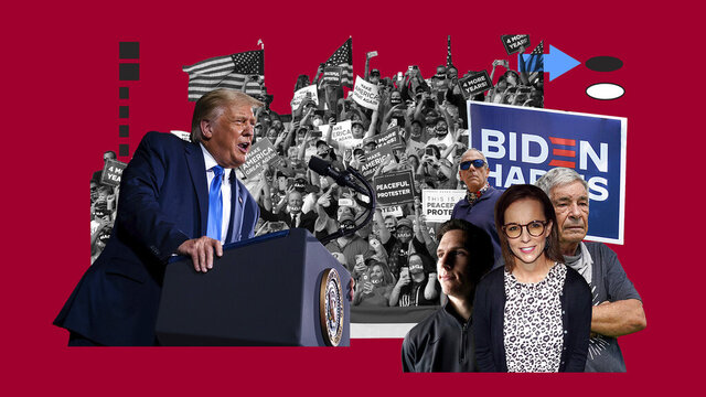 President Donald Trump's reelection depends largely on energizing his seemingly immovable base of support. But there are defectors, and they are finding one another on social media and sharing their stories. (AP Illustration);