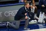Gonzaga coach Mark Few yells to players during the first half of the team's NCAA college basketball game against Saint Mary's in Moraga, Calif., Saturday, Jan. 16, 2021. (AP Photo/Jeff Chiu)