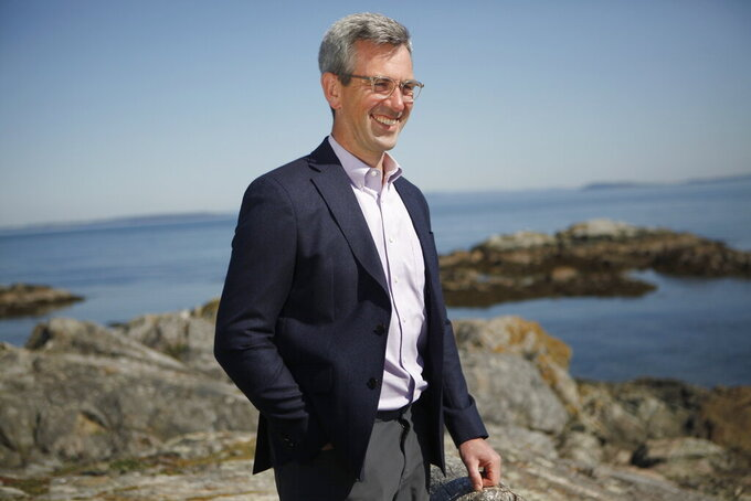 CarbonCure Technologies CEO Rob Niven is photographed in Victoria, B.C., on Monday, April 19, 2021. There are two winners of a $20 million contest to make products from carbon dioxide emitted by power plants. XPRIZE organized the contest at a coal-fired plant in Wyoming and a gas-fired plant in Alberta. XPRIZE announced Monday that Los Angeles-based CarbonBuilt and Dartmouth, Nova Scotia-based CarbonCure Technologies will share $15 million. The other $5 million went to 10 finalists in 2018. (Chad Hipolito/The Canadian Press via AP)