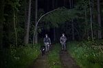 Members of the Lithuania State Border Guard Service patrol on the border with Belarus, near the small town Kapciamiestis, some 160km (100 miles) of the capital Vilnius, Lithuania, Thursday, June 10, 2021. Lithuania has detained nine Iraqi asylum-seekers who had entered the Baltic country from Belarus, officials said Monday, pointing a finger at Belarus for allegedly being involved in sending repeated groups of immigrants into Lithuania. (AP Photo/Mindaugas Kulbis)