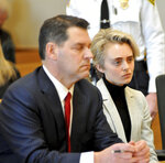 Michelle Carter, 22, appears in Taunton District Court in Taunton, Mass. Monday, February 11, 2019 for a hearing on her prison sentence. Carter was convicted in 2017 of involuntary manslaughter and sentenced to a 15 month prison term for encouraging 18-year-old Conrad Roy, III to kill himself when she instructed him over the phone to get back in his truck that was filling with toxic gas in July 2014. Her sentence was put on hold while the court reviewed the case and the defense argument that her actions were not criminal. Her conviction was upheld. Carter was jailed Monday on an involuntary manslaughter conviction.  (Mark Stockwell/The Sun Chronicle via AP, Pool)