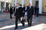 Special Counsel Robert Mueller, and his wife Ann, departs St. John's Episcopal Church, across from the White House, after attending a service, Sunday, March 24, 2019 in Washington. Mueller closed his long and contentious Russia investigation with no new charges, ending the probe that has cast a dark shadow over Donald Trump's presidency. (AP Photo/Cliff Owen)