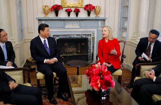 Joe Biden, Xi Jinping, Hillary Cllnton