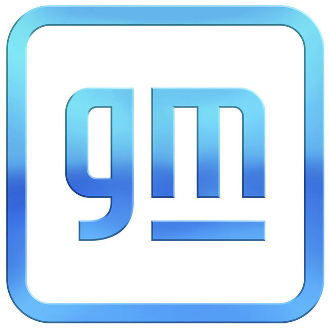 This image provided by General Motors shows the new company logo.  General Motors is changing its corporate logo and starting an electric vehicle marketing campaign as it tries to refurbish its image from a maker of gas-powered pickups and SUVs to a clean vehicle company. The 112-year-old Detroit automaker says, Friday, Jan. 8, 2021, the campaign will show GM's progressive company vision as it promises to roll out 30 new battery-powered vehicles globally by the end of 2025. (General Motors via AP)