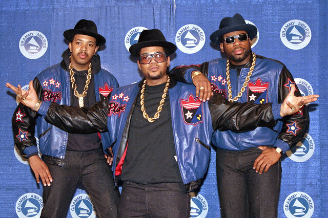 FILE - The rap group Run-DMC, from left, Joseph