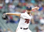 Minnesota Twins pitcher Devin Smeltzer throws to the Cleveland Indians in the third inning during a baseball game Sunday, Sept. 8, 2019 in Minneapolis. (AP Photo/Andy Clayton-King)