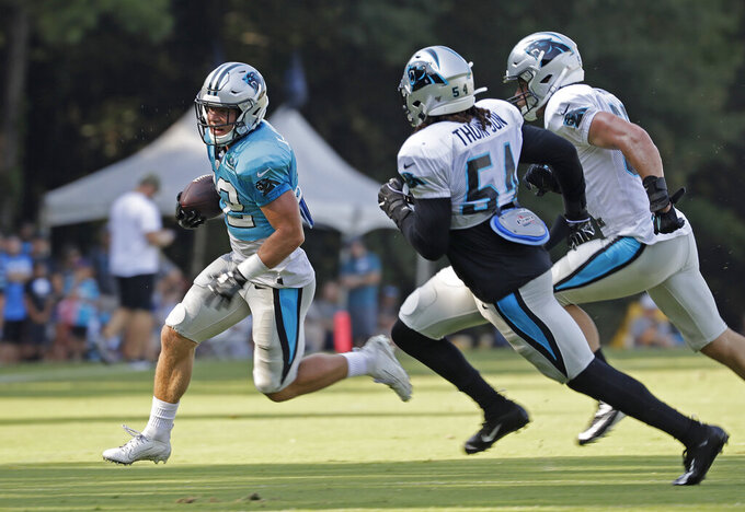 Panthers expect less plays, more touches for RB McCaffrey