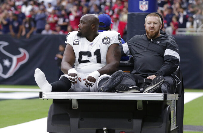 Raiders preparing to play without injured C Rodney Hudson