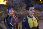 This image released by Twentieth Century Fox shows Shioli Kutsuna, left, and Brianna Hildebrand in a scene from