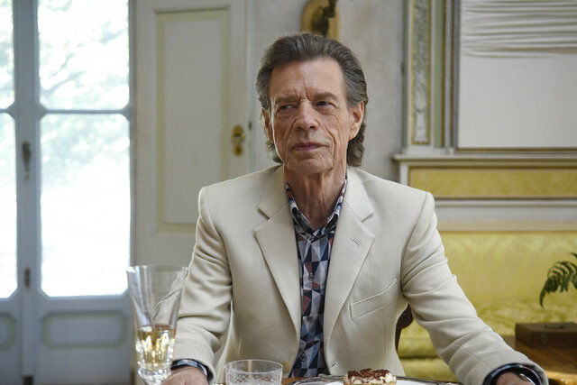 This image released by Sony Pictures Classics shows Mick Jagger in a scene from the film,