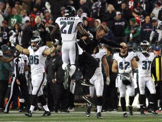 APTOPIX Eagles Patriots Football