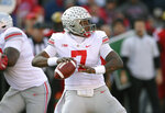 Ohio State quarterback Dwayne Haskins Jr. (7) looks to pass during the first half of an NCAA football game against Maryland, Saturday, Nov. 17, 2018, in College Park, Md. (AP Photo/Nick Wass)