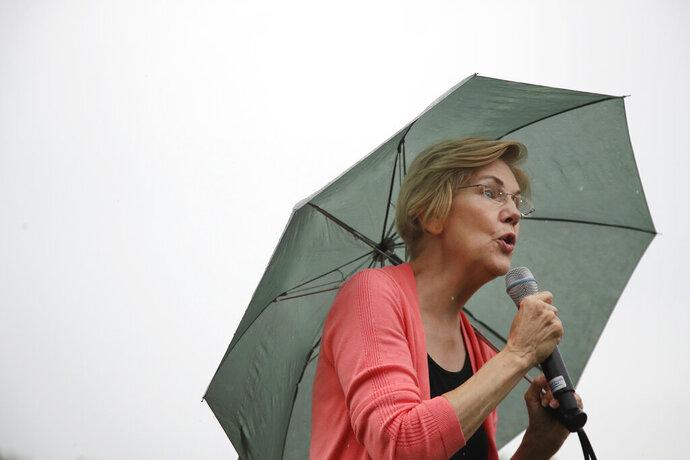 Democratic presidential candidate Sen. Elizabeth Warren, D-Mass., speaks at a campaign event, Monday, Sept. 2, 2019, in Hampton Falls, N.H. (AP Photo/Elise Amendola)