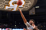 Georgia Tech forward James Banks III (1) goes for the rebound in the first half of an NCAA college basketball game against North Carolina State Saturday, Jan. 25, 2020, in Atlanta. Georgia Tech won 64-58. (AP Photo/Danny Karnik)