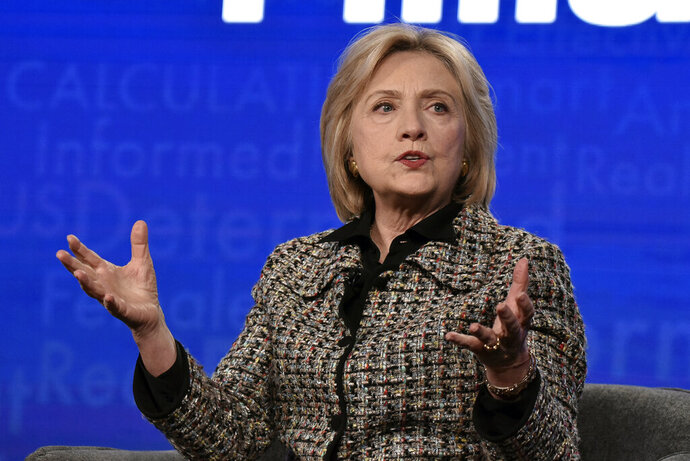 Hillary Clinton participates in the Hulu