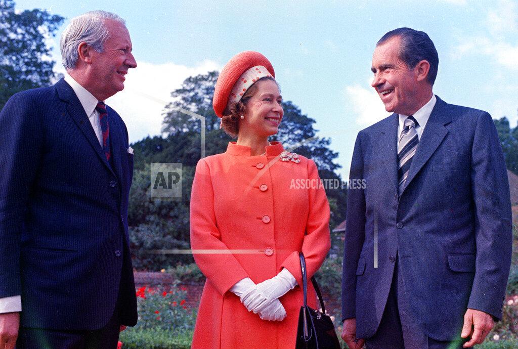 Associated Press International News England QUEEN NIXON HEATH 1970