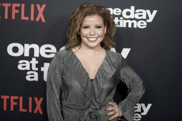 FILE - In this Wednesday, Jan. 24, 2018 file photo, Justina Machado attends the Los Angeles premiere of