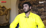 Mohamad Ali Sajit, a brother-in-law of Islamic State group leader Abu Bakr al-Baghdadi gives an interview to Al-Arabiya TV that aired in November 2019, in Iraq. Sajit, who saw al-Baghdadi multiple in the months before his death, said al-Baghdadi was a