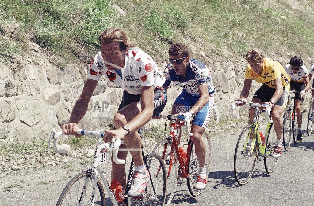 Watchf Associated Press Sports Bicycle Racing  FRANCE APHS206362 Greg LeMond Tour de France 1989