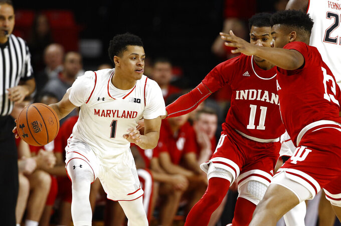 Fernando, Cowan rally Maryland past No. 22 Indiana 78-75
