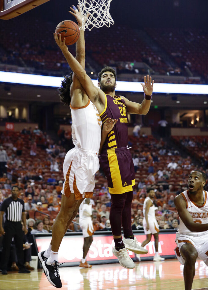 Febres, Ramey lead Texas past Central Michigan 87-76