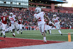 Ohio State running back J.K. Dobbins scores a touchdown against Rutgers during the first half of an NCAA college football game Saturday, Nov. 16, 2019, in Piscataway, N.J. (AP Photo/Adam Hunger)