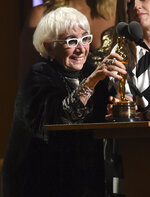 Lina Wertmuller accepts her honorary award at the Governors Awards on Sunday, Oct. 27, 2019, at the Dolby Ballroom in Los Angeles. (Photo by Chris Pizzello/Invision/AP)