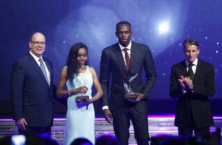 Usain Bolt, Almaz Ayana, Prince Albert II of Monaco, Sebastian Coe